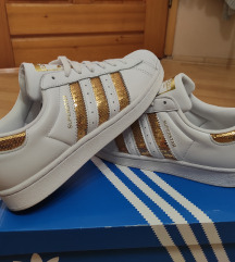 Superstar adidas gold šljokice