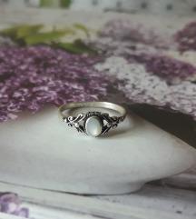 REZ za prozorcic-prsten srebro sedef