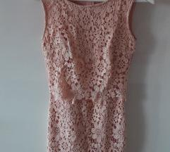 Haljina- baby roza čipka