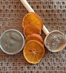 Piling maska zelena glina naranča