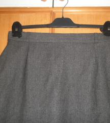Siva poslovna suknja 44