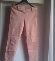 H&M puder roza stretch hlače