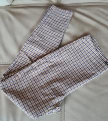 Elastične uske hlače Cropp chino karirani uzorak
