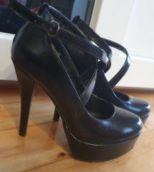 Crne kožne zatvorene cipele