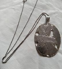 Nova srebrna unikat ogrlica s privjeskom
