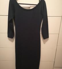 Zara tamnozelena uska haljina