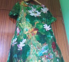 Zelena lotos haljina
