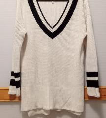 Bijelo crni pulover