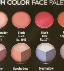 Make up paleta za lice puder rumenilo sjenilo
