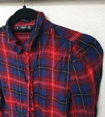 MANGO crvena karirana košulja / svečana