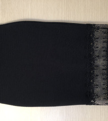 SNIŽENO! Crna suknja s cipkom