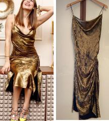 Zara slip haljina metalik izgleda