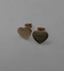 Tiffany & Co, naušnice, oblik srca, nove!