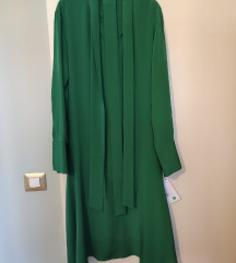 Joseph tamnozelena haljina od čiste svile