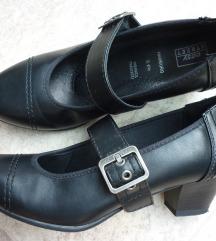 Crne kožne cipele, 40 + balerinke na poklon