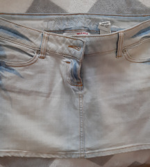 Plava jeans suknja