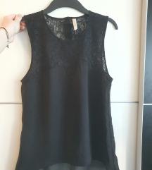 Crna bluza s uzorkom čipke