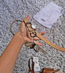 povodac i ogrlica za psa prava koža Zara