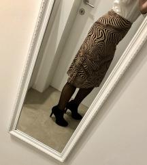 Midi smeđa suknja