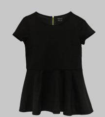 Crna peplum majica