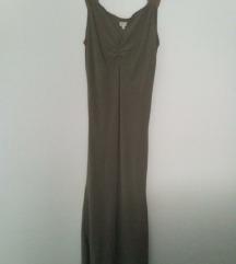 nova midi maslinasto zelena ljetna haljina 40-42