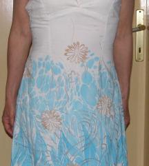 tirkizno-bijela haljina *