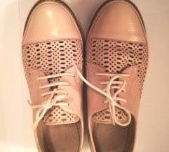 Roze Oxford kožne cipele