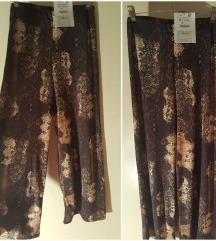 Zara palazzo hlače zmijski print
