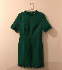 Zelena haljina uskostrukirana