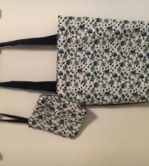 Torba + novčanik/neseser, handmade, novo