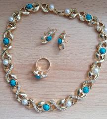 Prsten + nausnice + ogrlica