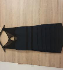 Haljina M L plavo crna