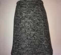 Vintage topla vunena suknjica