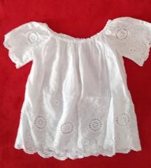 Bijela vezena bluza