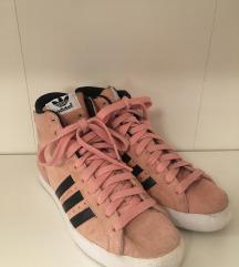 ADIDAS roza kožne visoke tenisice 39