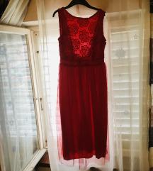 Crvena svecana haljina