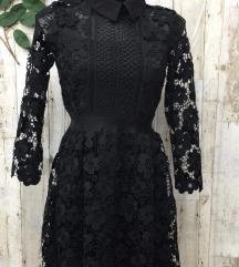Crna čipkasta haljina, 180 kn