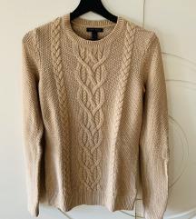 ORGINAL Tommy Hilfiger bež nude pulover džemper