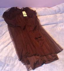 Zara bordo mini haljina s volanima M 38