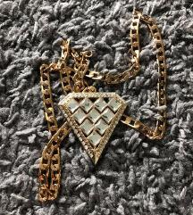 Lančić sa privjeskom dijamant