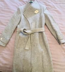 Mango novi sivi kaput S vel- 450 kn