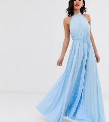 Asos plava haljina otvorenih leđa