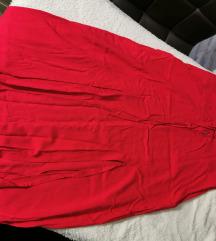 Crvena i crna suknja s prorezima