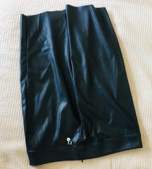 NOVO Kožna pencil suknja