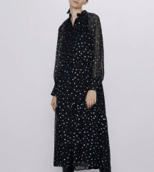 Zara točkasta haljina M