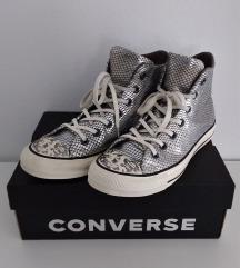 All Star Converse starke srebrne s efektom