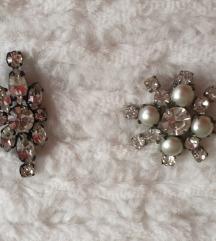 2 mala broša s kristalima