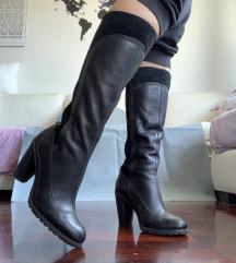 Timberland crne kožne čizme 38