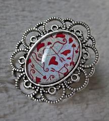 Prsten ''Holo hearts'' (ručni rad)