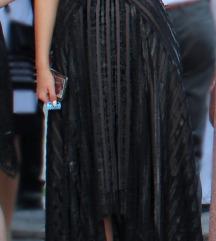 crna svečana midi haljina